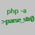 parse str function with php -a to start php interactive shell
